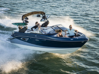 Sea Ray SLX W 230 sky view
