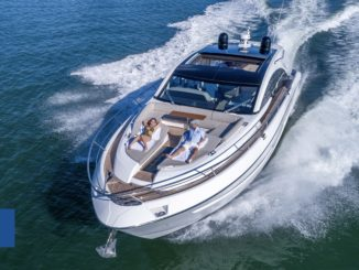 Fairline Targa 63 GT - Running - yacht and sea