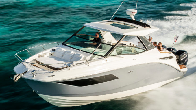 Sea Ray sundancer 320 outboard - running - yacht and Sea