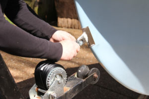 Replace A Winch Strap - hook the strap