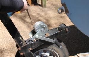Replace A Winch Strap - remove strap