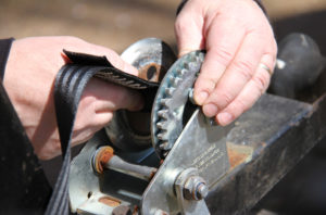 Replace A Winch Strap - new strap