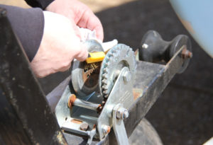 Replace A Winch Strap - cleaning