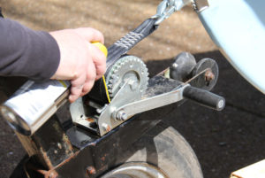 Replace A Winch Strap - lubricant