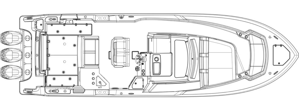Boston Whaler 350 Realm Layout