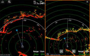 Raymarine Magnum High-Performance Marine Radar screen