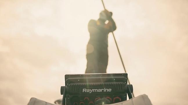 Raymarine Axiom Pro sunset