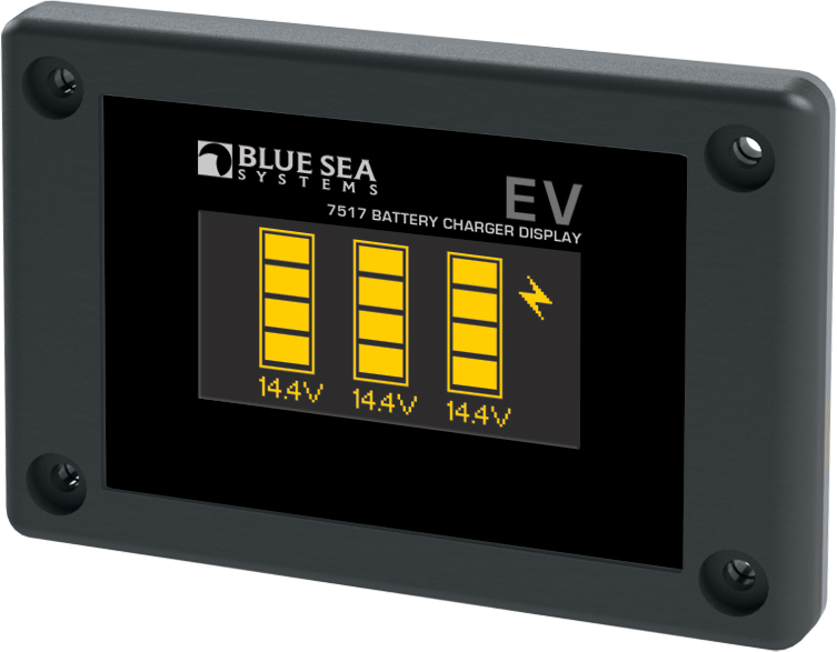 Blue Sea EV Battery Charger Display - yacht and sea