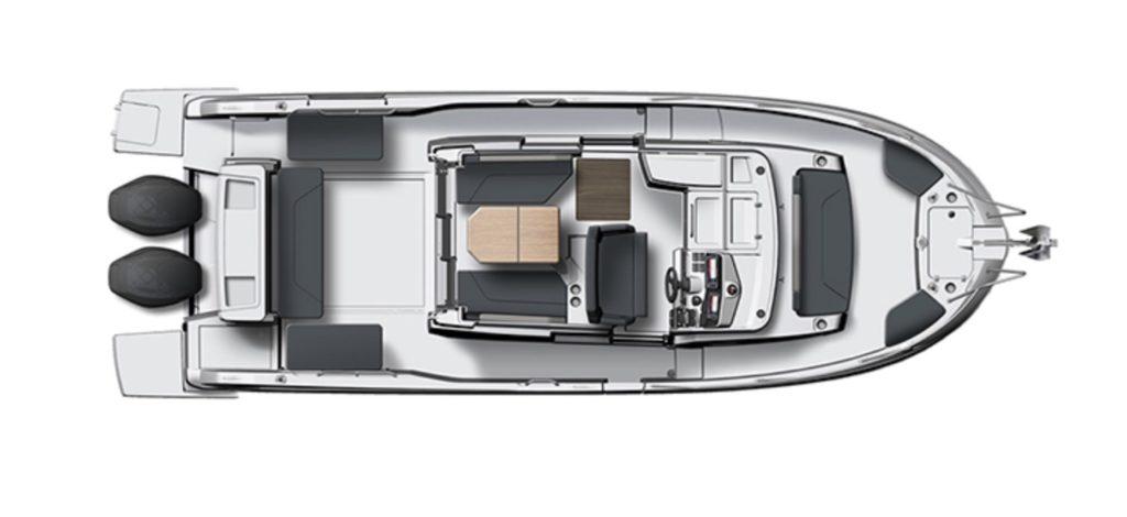 Beneteau Barracuda 27 - layout
