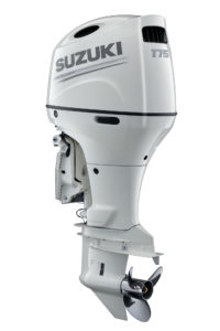 New Suzuki DF175A in white - yacht and sea