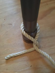 The Half-Hitch knot - yacht and sea