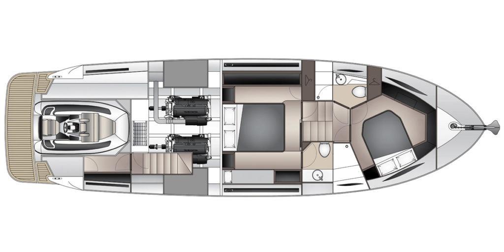 Maritimo_X50_GA_layout Tender_1 - yacht and sea