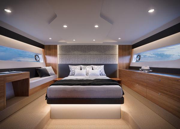 Maritimo_X50_MasterCabin - yacht and sea