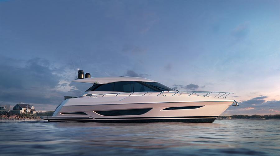 Maritimo_X50_Stationary - yacht and sea