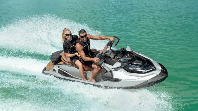 2018 SeaDoo GTX Limited - yacht and sea