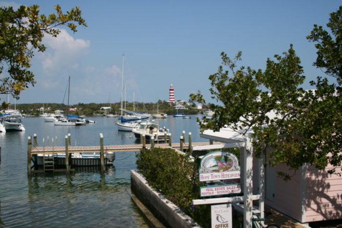 Hope Town - bahamas - yacht and sea