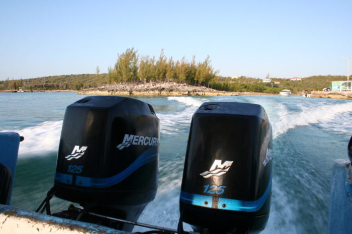 powerboat rental Bahamas - yacht and sea