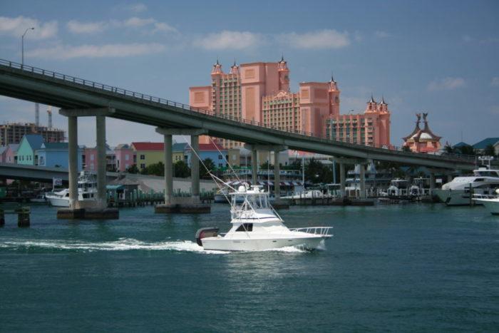 Nassau - Bahamas - yacht and sea