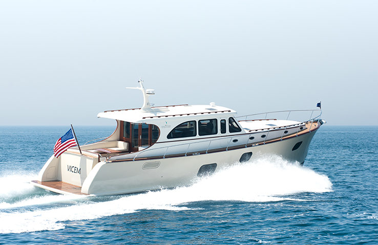 Vicem 65 IPS Classic running 3 - yacht and sea