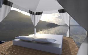 Zeelander Z72 SB aft view sunset - yacht and sea