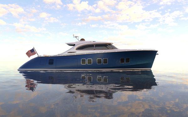 Zeelander Z72 side - yacht and sea