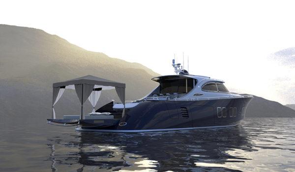 Zeelander Z72 tent - yacht and sea