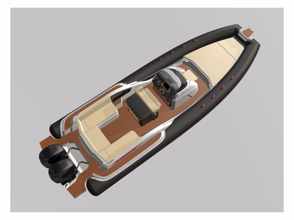 All New Joker Clubman 30 - layout - yacht and sea