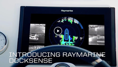 Raymarine DockSense video - yacht and sea
