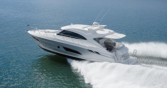 Riviera 4800 SportYacht Running - yacht and sea