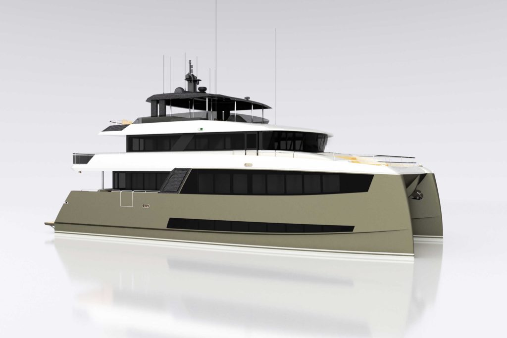 Amasea yachts rendering 2 - yacht and sea