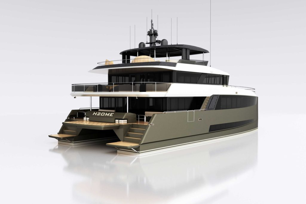 Amasea yachts rendering 1 - yacht and sea
