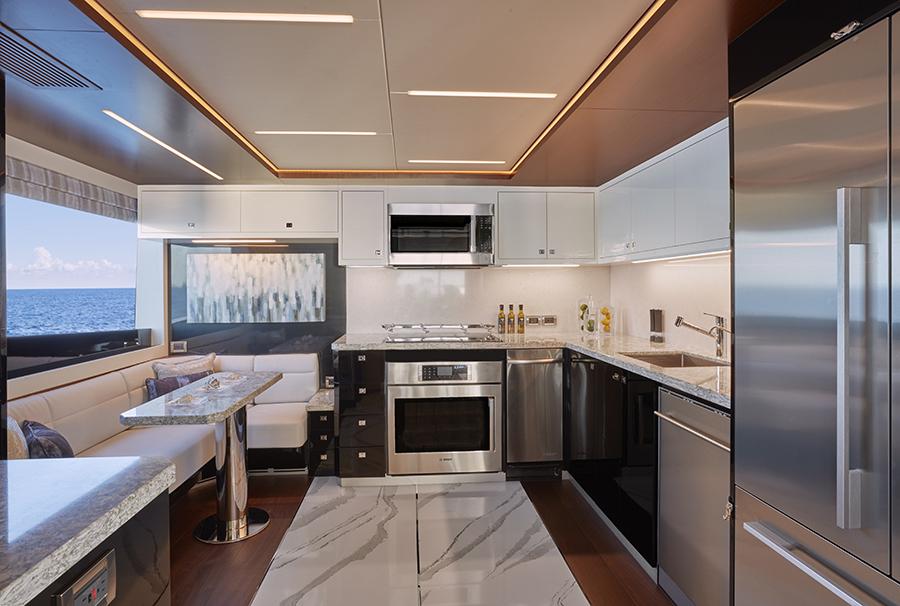 Ocean Alexander 90R kitchen