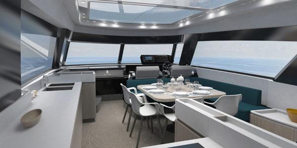 Cetera 60 interior - yacht and sea