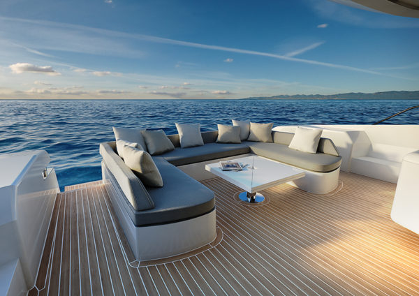 Cetera 60 rear deck - yacht and sea