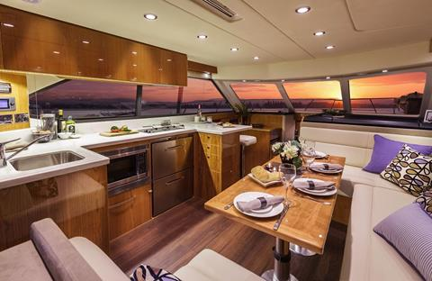 Riviera-43-Open-Flybridge-Interior-1 - yacht and sea