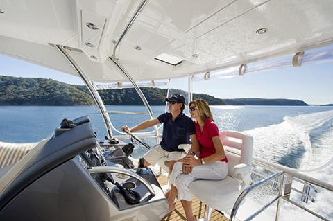 Riviera-43-Open-Flybridge-Interior-2 - yacht and sea