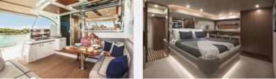 Riviera Belize 66 Sedan - 1 - yacht and sea