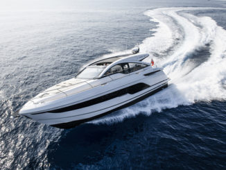 Targa 43 OPEN running - yacht and sea
