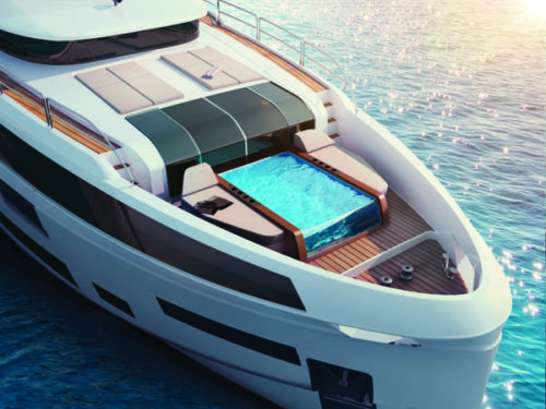 Sirena 88 front - yacht and sea