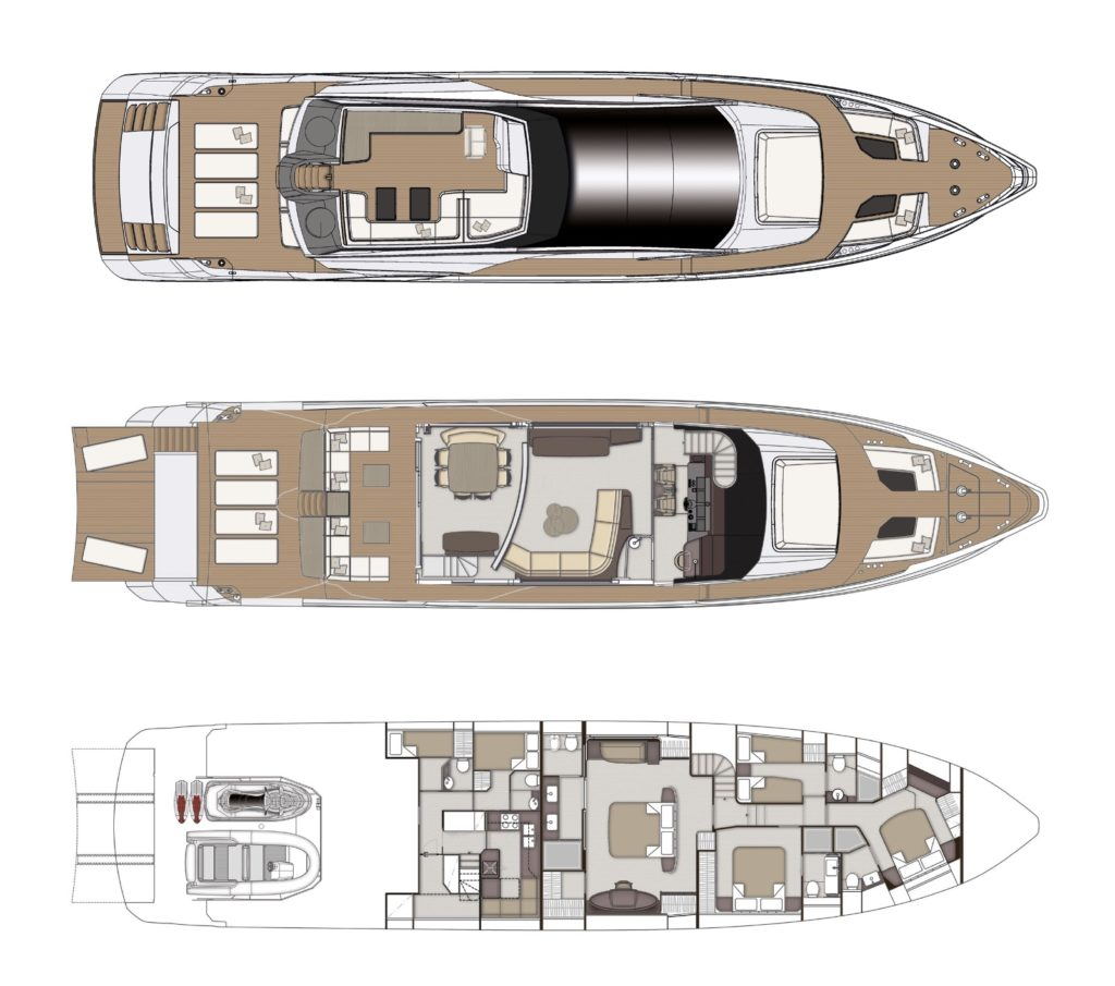 Azimut-Grande-S10-Layout - yacht and sea