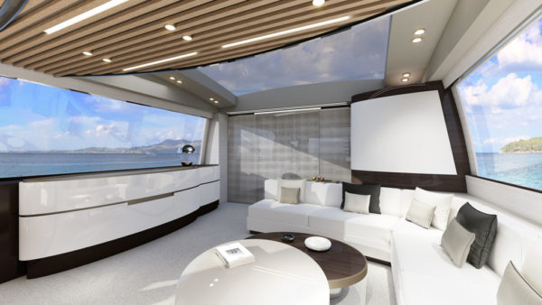 Azimut S10_main deck closed_yacht and sea