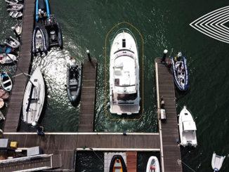 Raymarine DockSense and Prestige Yachts - yacht and sea