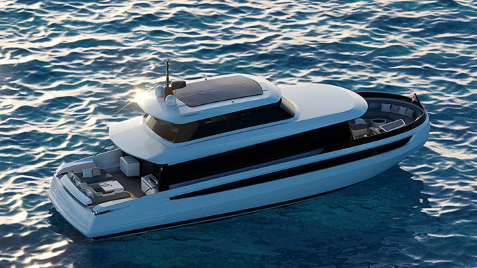 Cetera 60 sky view - yacht and sea